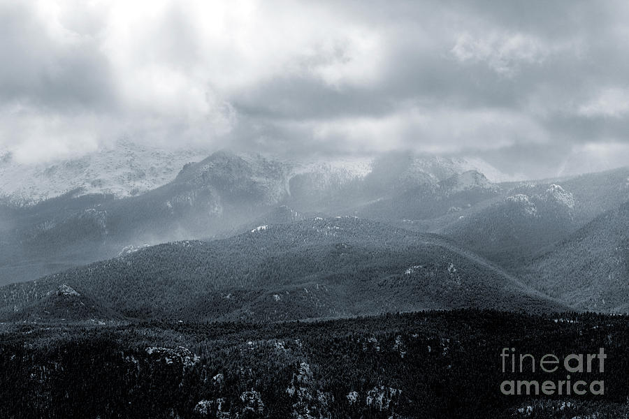 Storm On Pikes Peak Colorado Photograph