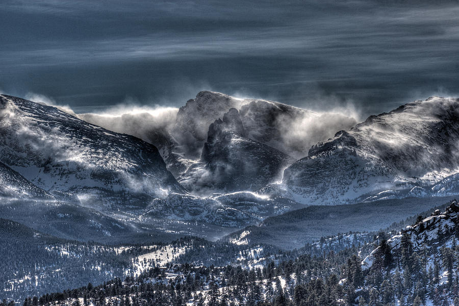 Hdr Photograph - Storm On The Divide by G Wigler