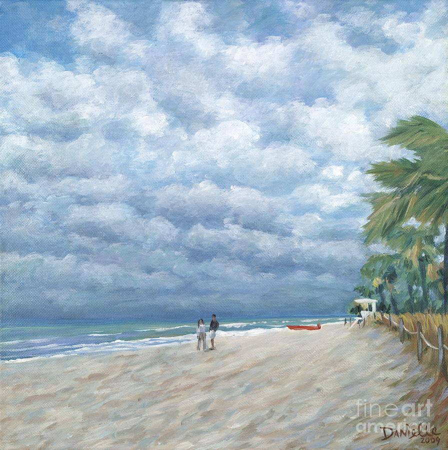 Florida Painting - Storm On The Horizon by Danielle  Perry