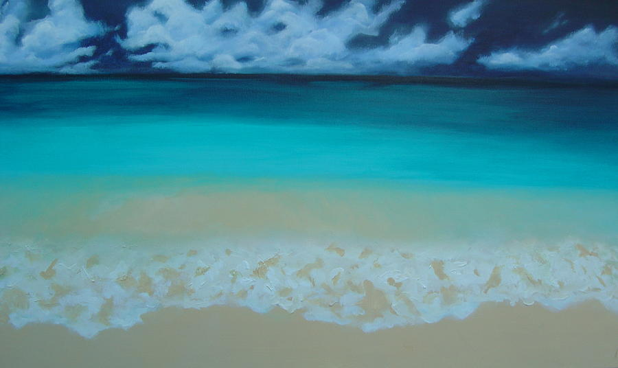 Beach Painting - Storm On The Horizon by Nicole Lee