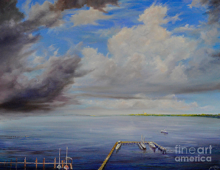 Storm on the Indian River by AnnaJo Vahle