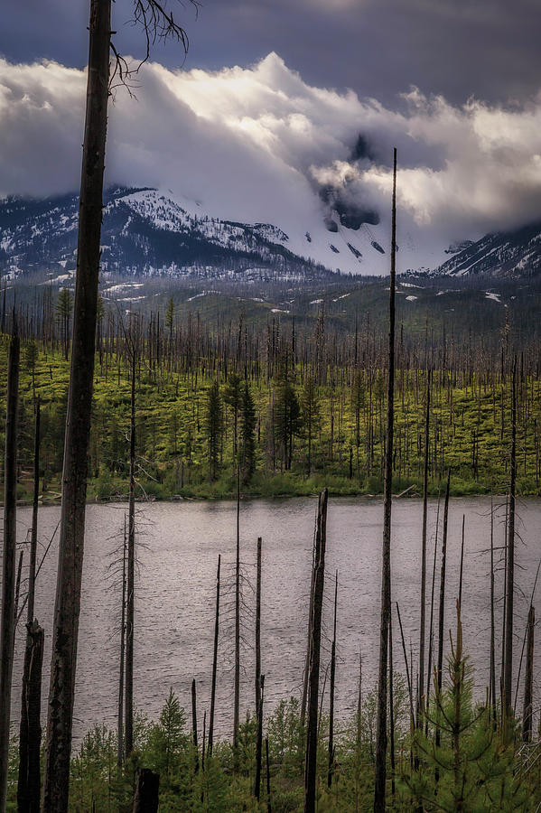 Lake Photograph - Storm On Three Fingered Jack by Cat Connor