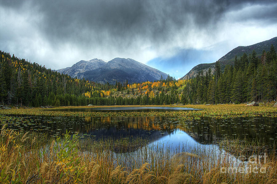 Nature Photograph - Storm Over Cub Lake by Pete Hellmann