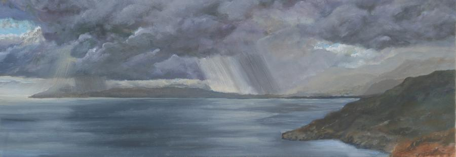 Storm over Rethymno, Crete by David Capon