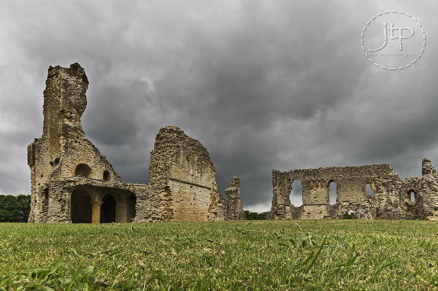 Clouds Photograph - Storm Over Ruin by JT Photography