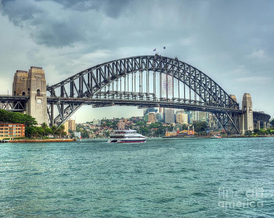 Sydney Harbour Bridge Photograph - Storm Over Sydney Harbour Bridge by Chris Smith