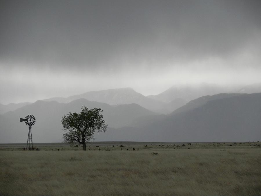 Landscape Photograph - Storm over the Rockies by Adrienne Petterson