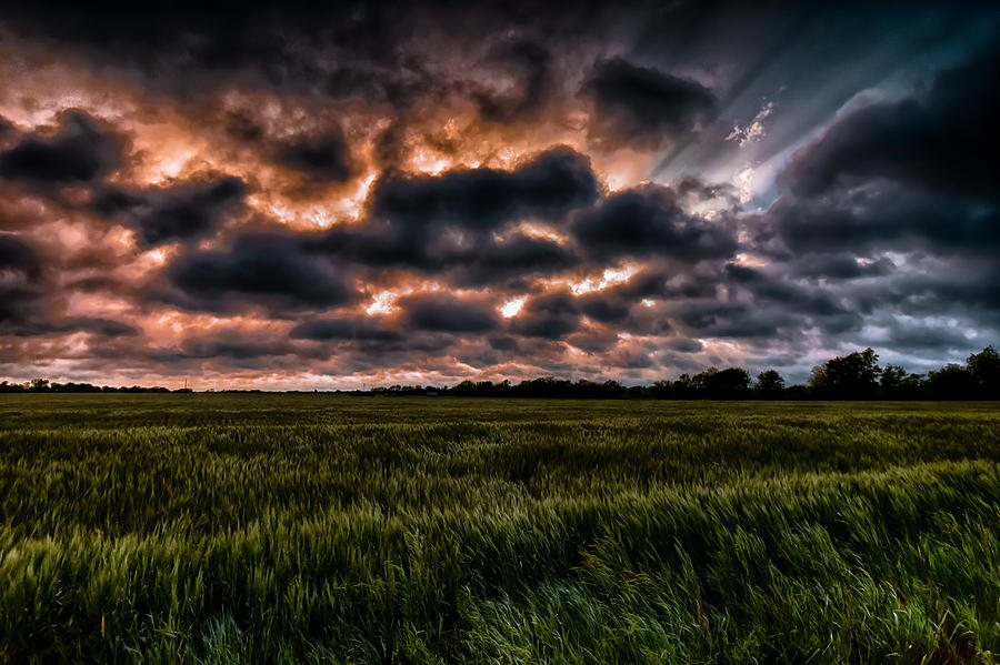 Storm Photograph - Storm Over The Wheat by Garett Gabriel