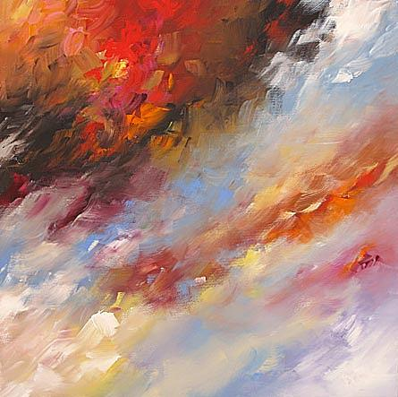 Original Painting - Storm Over Tulsa by Linda Monfort