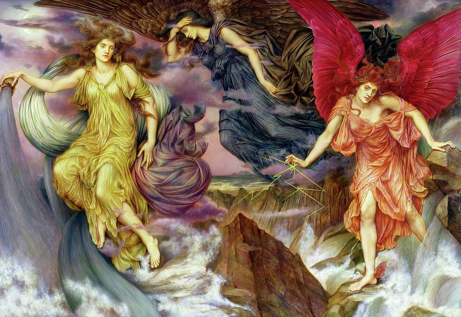 Evelyn De Morgan Painting - Storm Spirits by Evelyn De Morgan