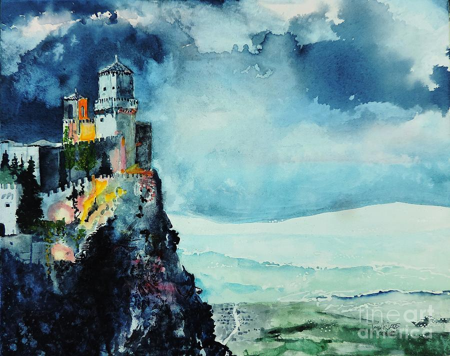 Storm Painting - Storm The Castle by Tom Riggs
