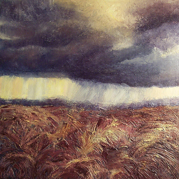Storm Painting - Storm-tossed Harvest by Lisa Marie Dole Skinner