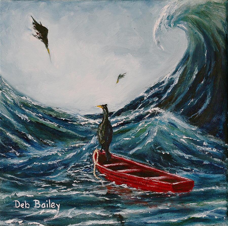 Storm waves by Debra Bailey