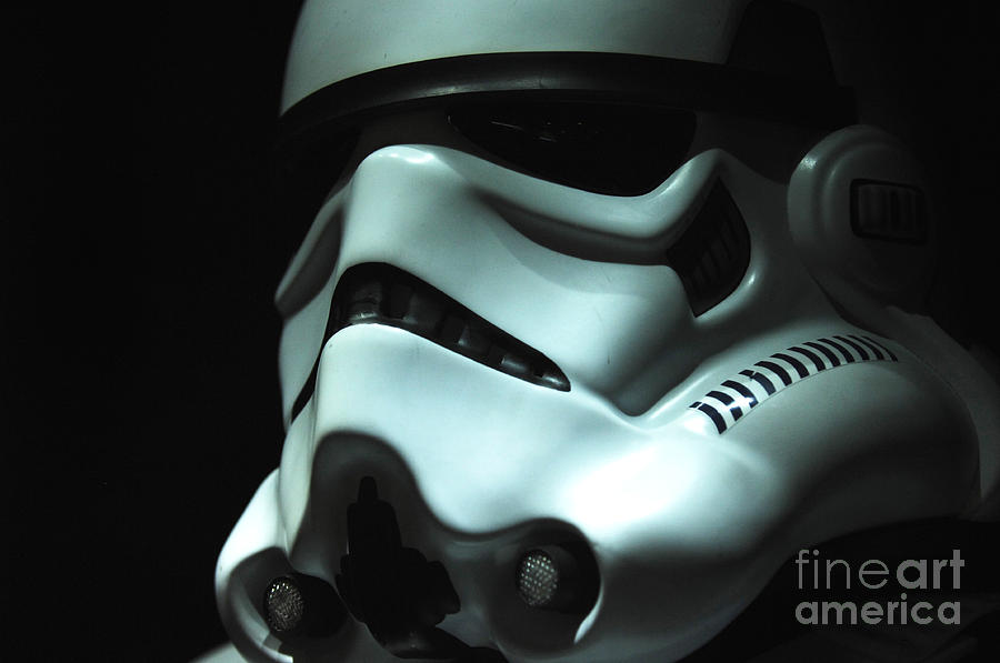 Stormtrooper Photograph - Stormtrooper Helmet by Micah May