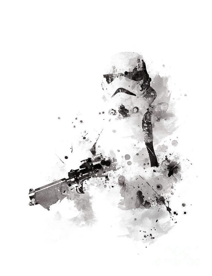 Stormtrooper Mixed Media - Stormtrooper by Monn Print