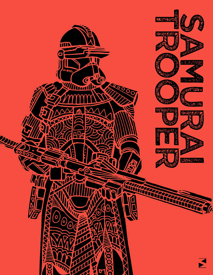 Stormtrooper - Red - Star Wars Art Mixed Media