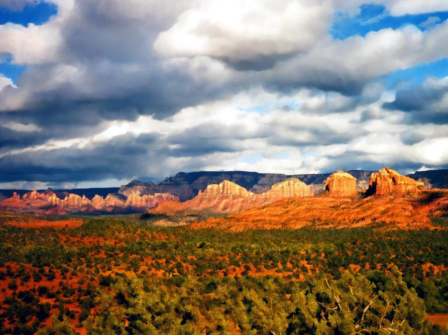 Desert Photograph - Stormwatch Arizona by Kurt Van Wagner