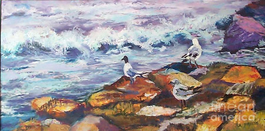 Coastal Pastel - Stormwatch IIi by Alicia Drakiotes