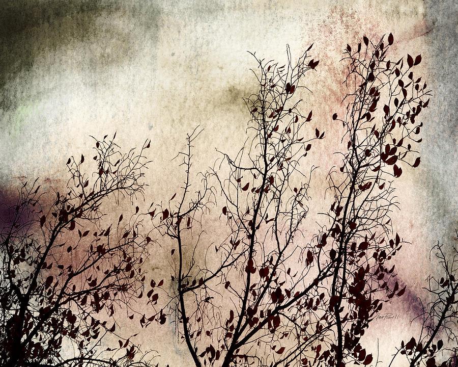 Nature Digital Art - Stormy Autumn - Nature Art by Ann Powell