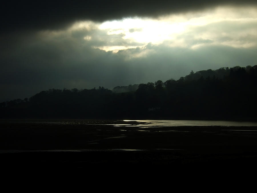 River Photograph - Stormy Conwy by Gary Rowlands
