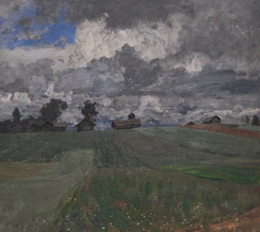 Isaac Levitan Painting - Stormy Day by Isaac Levitan