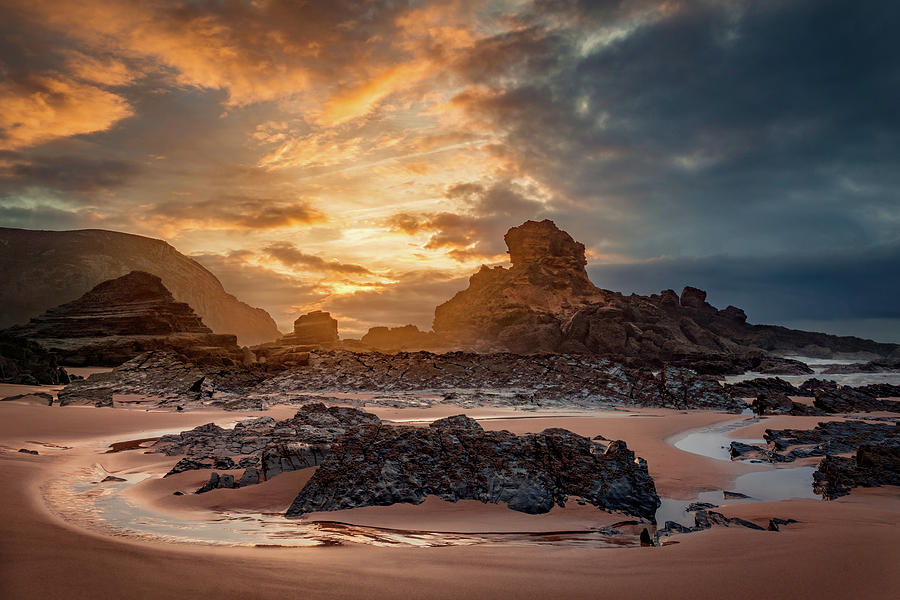 Stormy evening on Praia do Castelejo by Dmytro Korol