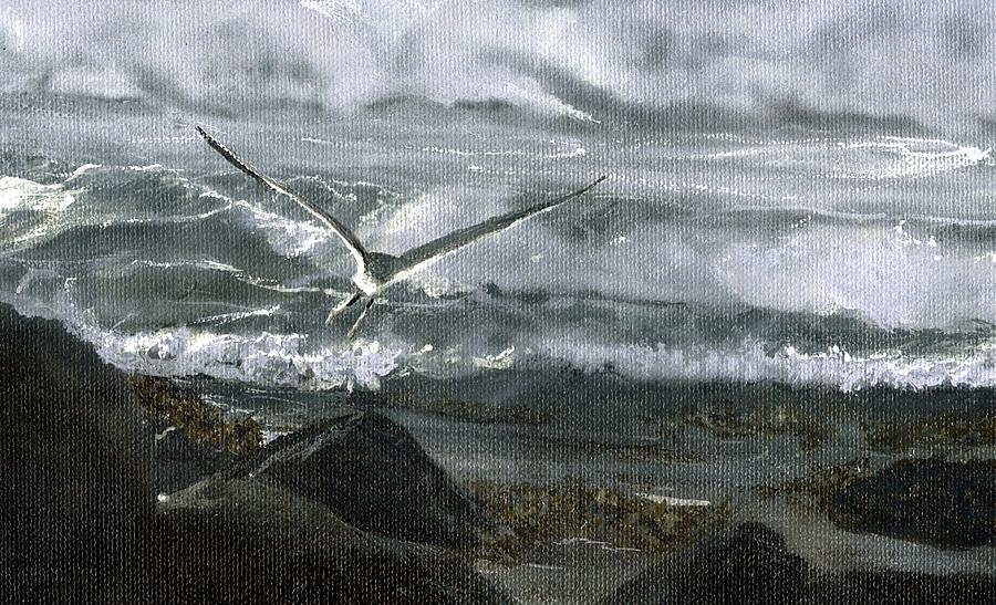 Stormy Flight 2  Painting by Charles Parks