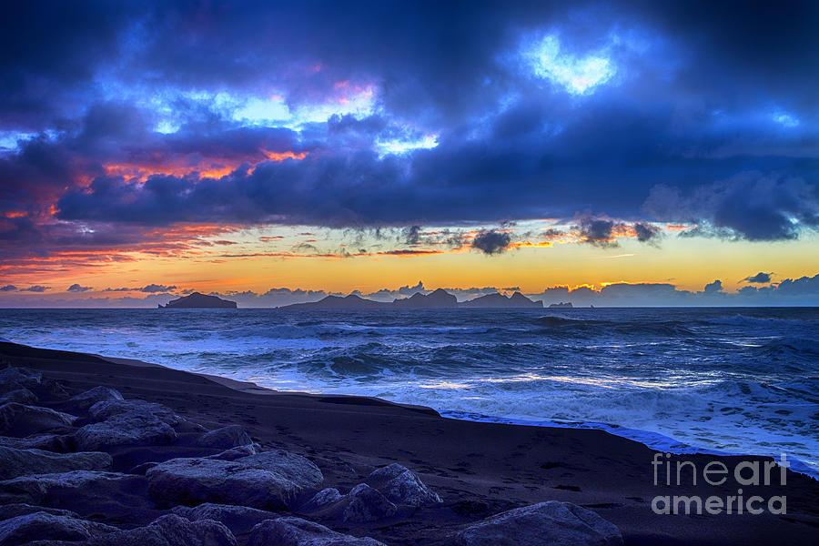 Stormy Icelandic Sunset Photograph