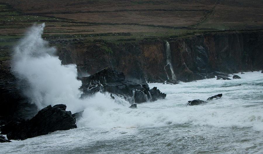 Dingle Peninsula Photograph - Stormy Irish Seas by Nicole Robinson