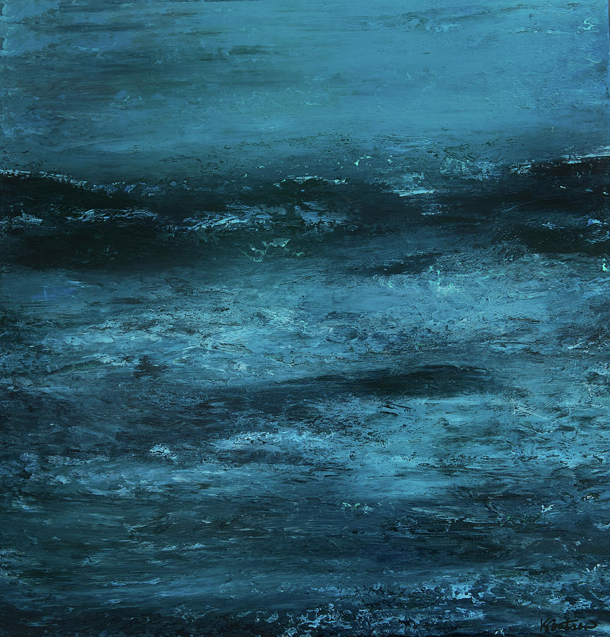 Canvas Print Painting - Stormy by K Batson Art