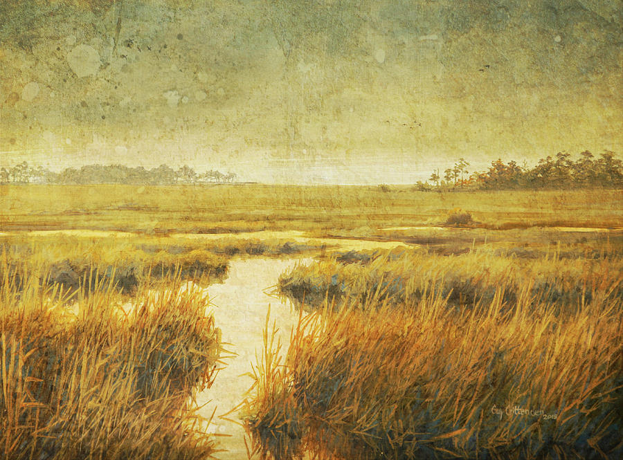 Stormy Marsh Painting by Guy Crittenden