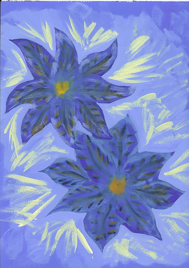 Flower Painting - Stormy Monday by Laura Lillo