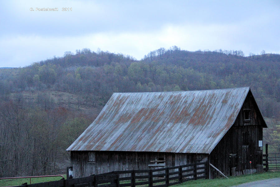 Barns Photograph - Stormy Morning View of Barn by Carolyn Postelwait
