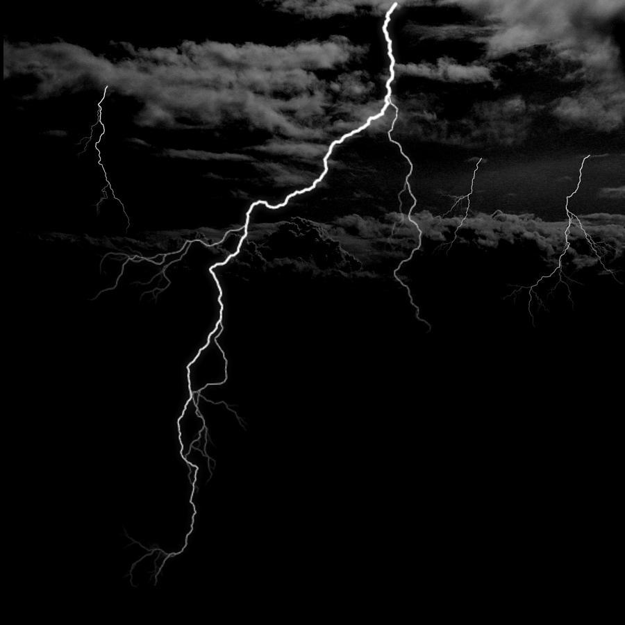 Lightning Digital Art - Stormy Night by Brad Scott