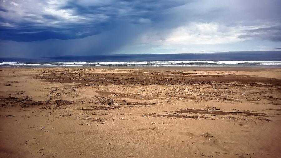 Stormy Nye Beach Photograph