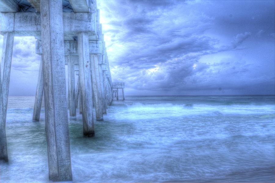 Pier Photograph - Stormy Pier by Larry Underwood