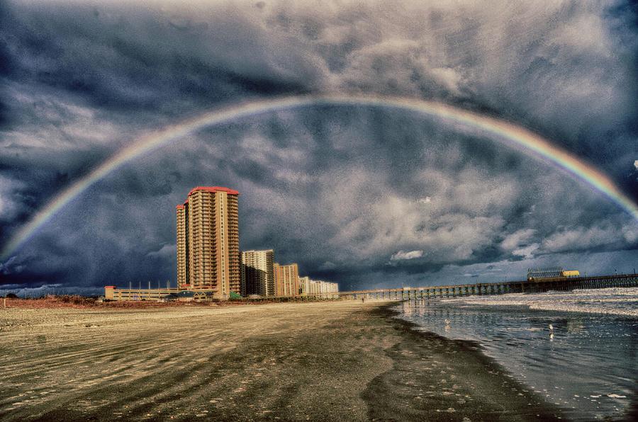 Rainbow Photograph - Stormy Rainbow by Kelly Reber