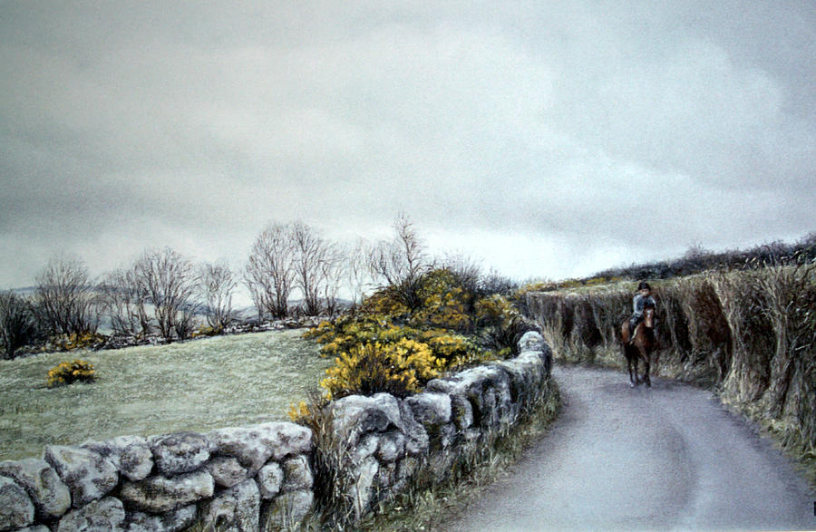 Stormy Ride On The Moor Painting