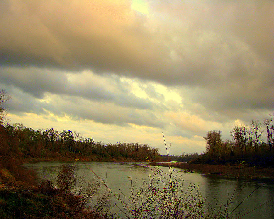 River Photograph - Stormy River by Dottie Dees