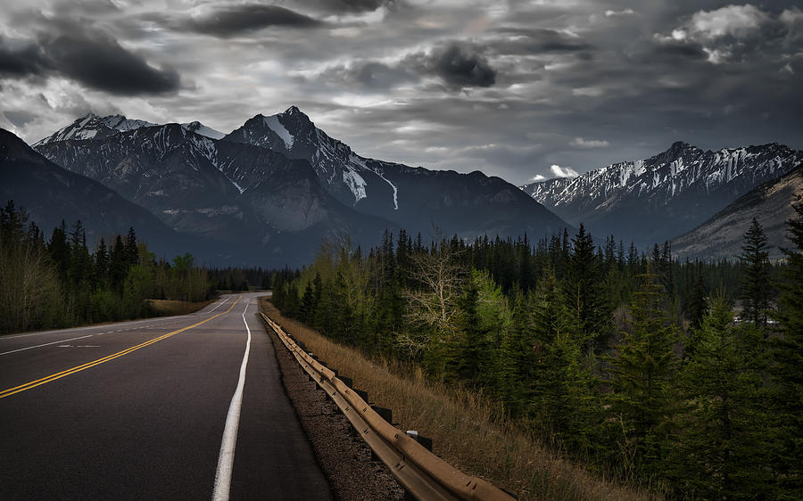 Alberta Photograph - Stormy Road by Mohsen Kamalzadeh