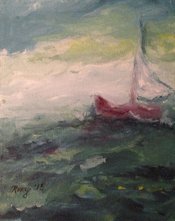 Impressionism Photograph - Stormy Sailboat by Roxy Rich