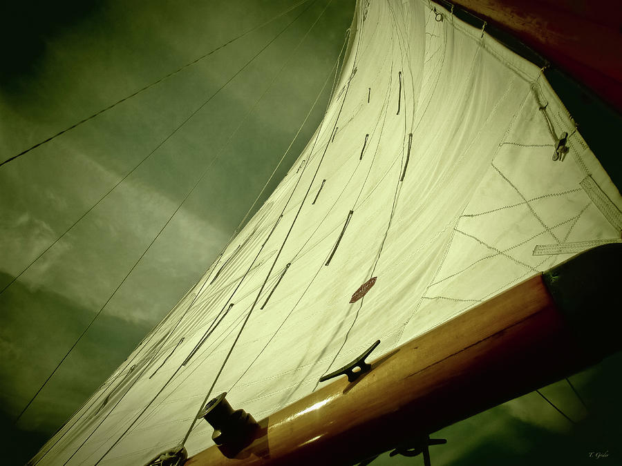 Sail Photograph - Stormy Sea by Tony Grider
