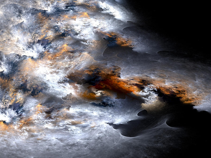 Fractal Digital Art - Stormy Seas by Amorina Ashton