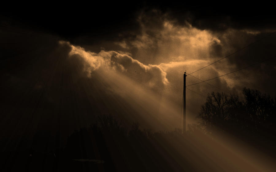 Storm Photograph - Stormy Sky And Light by Martin Morehead