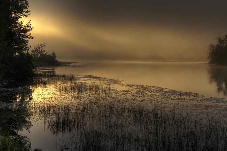 Stormy Sunrise on Bear  Brook by John Sandiford