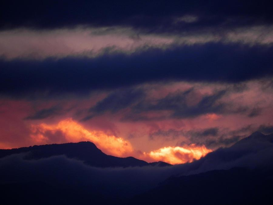 Rockies Photograph - Stormy Sunset by Adrienne Petterson