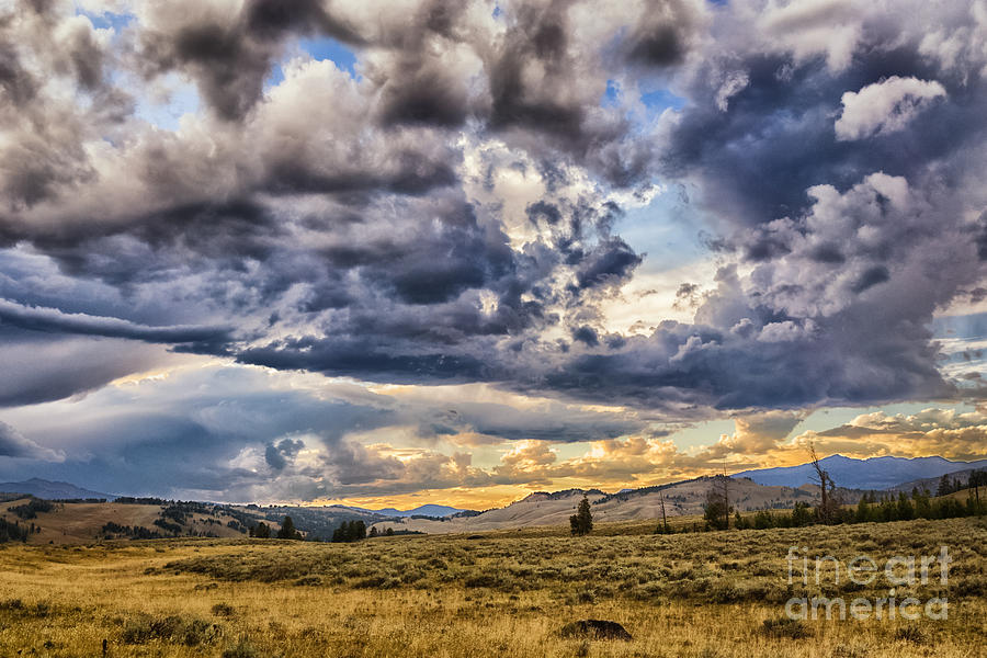 Stormy Sunset at Blacktail Plateau by Sophie Doell