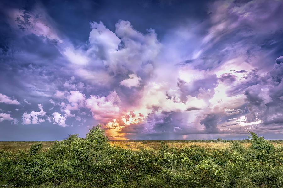 Florida Photograph - Stormy Sunset by Louise Hill