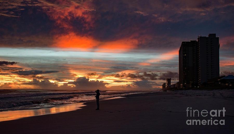 Stormy Sunset by Mechala Matthews