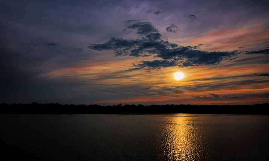 Storm Photograph - Stormy Sunset over Belleville Lake by Pat Cook